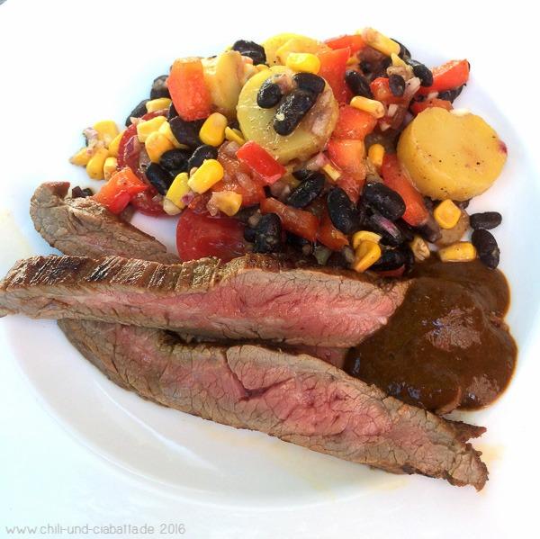 Flank Steak asado mit Kartoffelsalat Texas Style