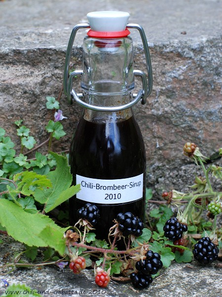 Chili-Brombeer-Sirup