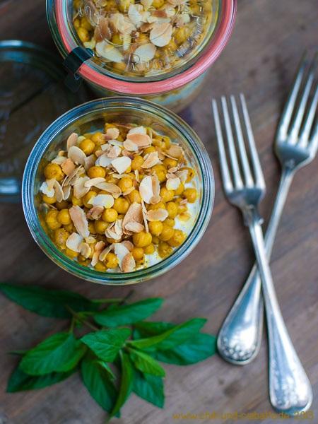 Curry-Hähnchen mit Gewürz-Kichererbsen