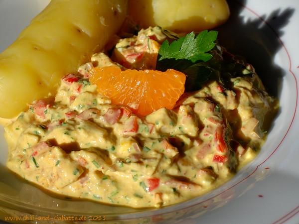 Curry-Geflügelsalat mit Clementinen