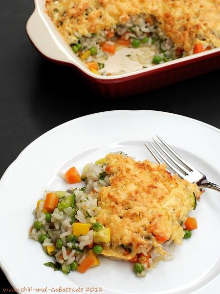 Gemüse-Risotto-Gratin