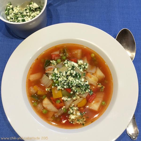 Gemüseeintopf mit Schafskäse-Gremolata