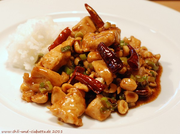 Kung Pao Chicken(Gong Bao Chicken) Pleurotus eryngii with Pickled ...