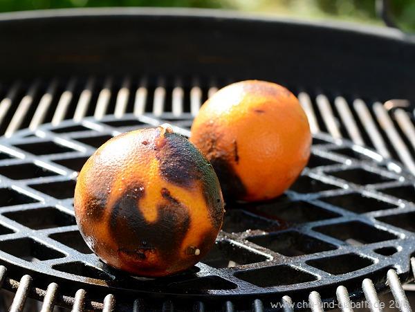 Orangen auf dem Grill
