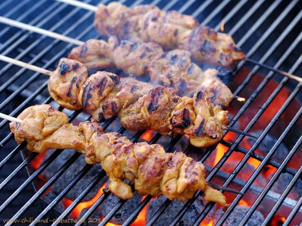 Kebabs auf dem Grill