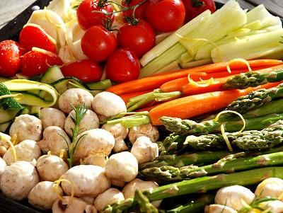Gemüse auf dem Blech