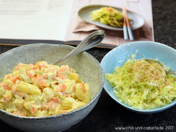 Japanischer Kartoffelsalat, japanischer Krautsalat