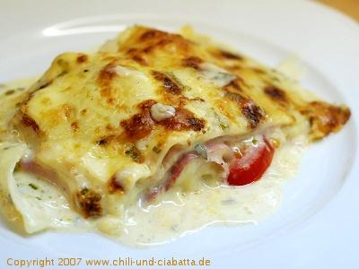 Käse-Schinken-Lasagne 2
