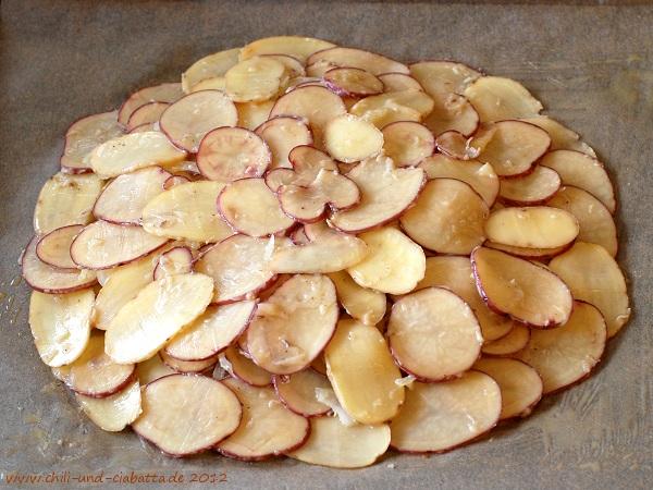 Kartoffel-Galette vorher