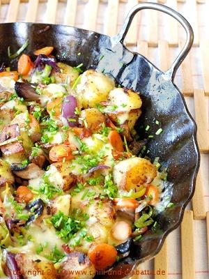 Kartoffelpfanne mit Käse