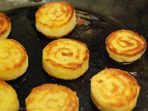 gebratene Kartoffelroulade