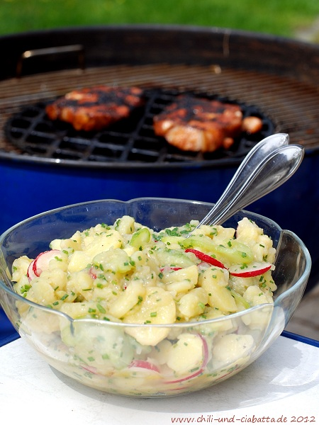 Kartoffel-Radieserl-Salat mit Gurke