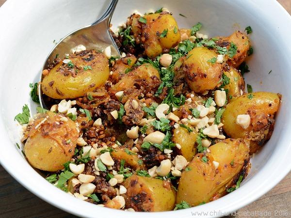 Würzige indische Bratkartoffeln mit Raucharoma