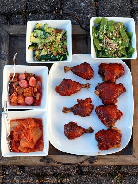 Koreanisches knuspriges Hähnchen