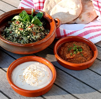 Taboule mit Dipps