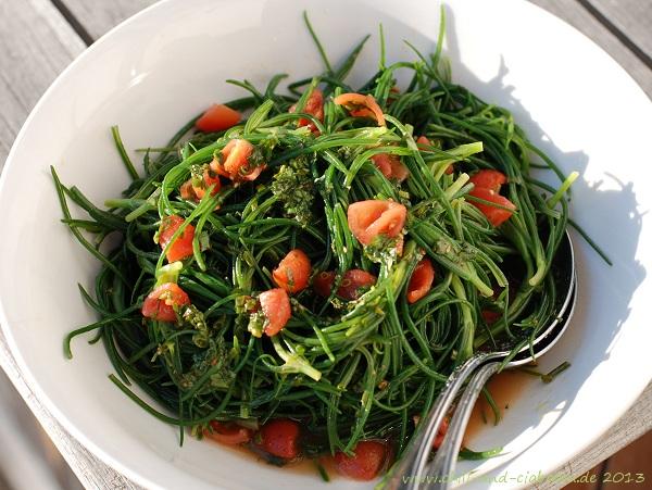 Mönchsbart in Tomaten-Vinaigrette