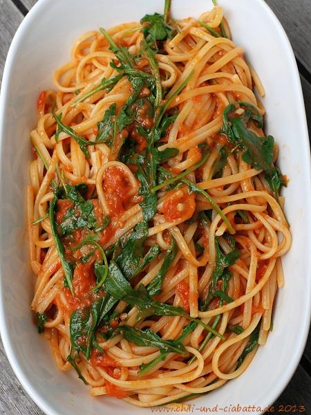 Spaghetti nicht ganz nach Sophia Loren