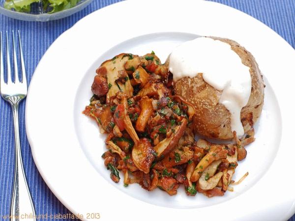 Ofenkartoffeln mit Speck-Pilzen
