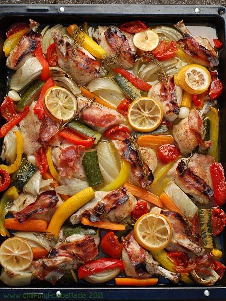 Pollo al forno nachher
