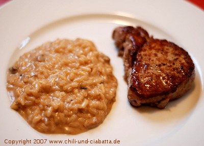 Risotto mit Gorgonzola und Steinpilzen