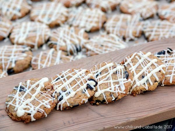 Sauerkirsch-Haferflocken-Kekse