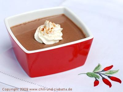 Chili-Schokoladencreme-Töpfchen