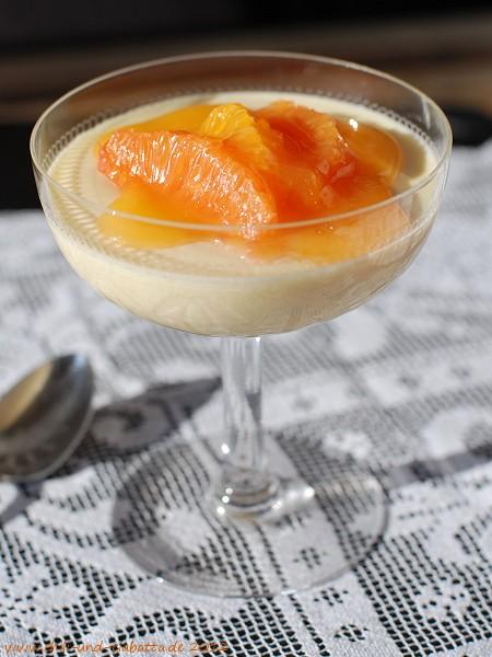 Schoko-Grießcree mit Aperol-Orangensauce