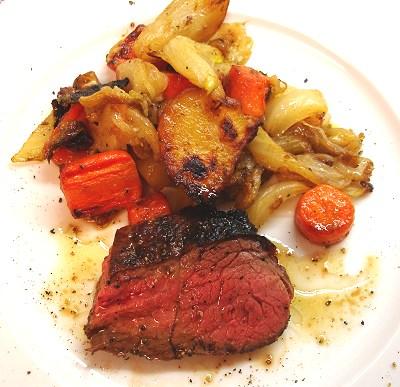 T-Bone Steak mit Schmorgemüse