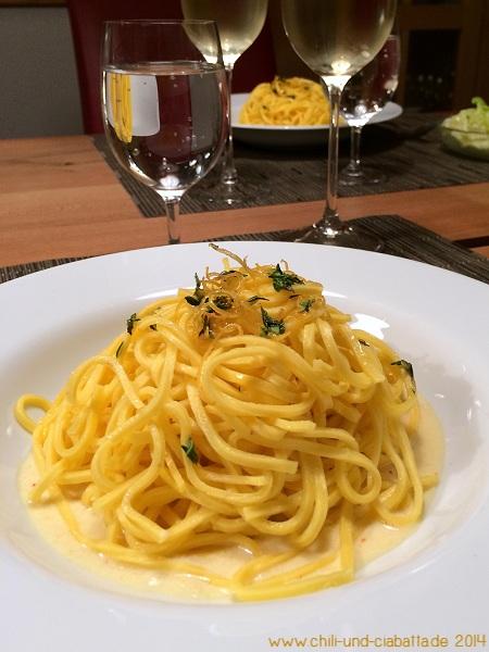 Tagliolini auf Zitronensauce