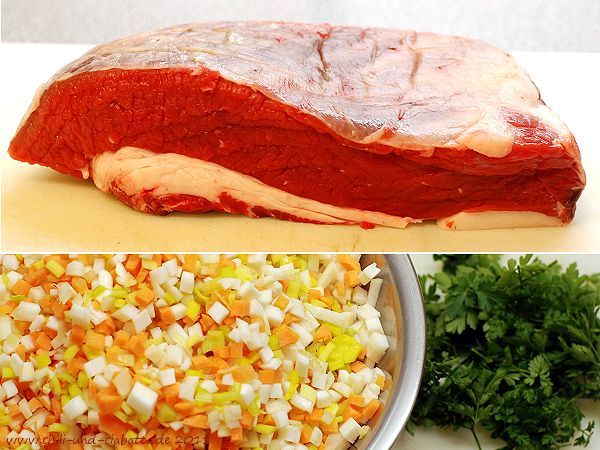 Brust kern und Gemüse