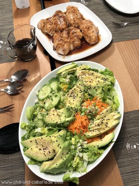 Teriyaki Hähnchen Salat