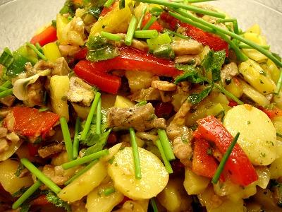 Thai-Kartoffelsalat mit Rindfleisch
