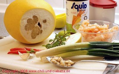 Thai-Pomelo-Salat Zutaten