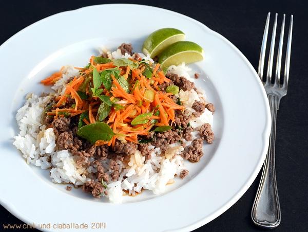 Rinderhack mit Thai-Basilikum
