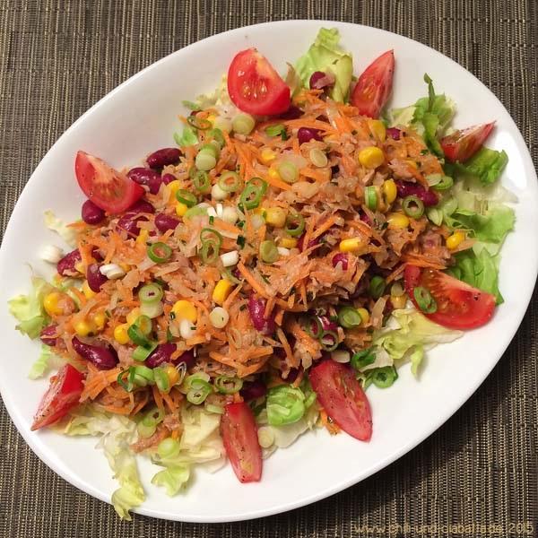 Thunfisch-Mais-Salat mit Kidneybohneny