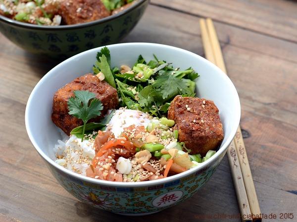 Yum-Yum Reisschüssel mit Tofu
