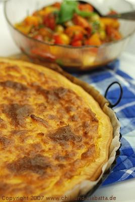 Ziegenfrischkäse-Tarte