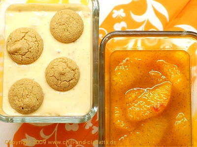 Amarettocreme mit Vanille-Orangen