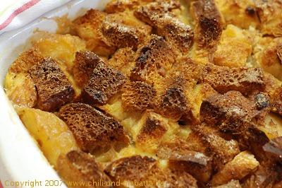 Brotpudding mit Äpfeln