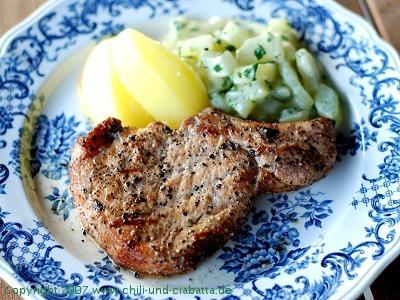 grillgeräuchertes Schweinekotelett