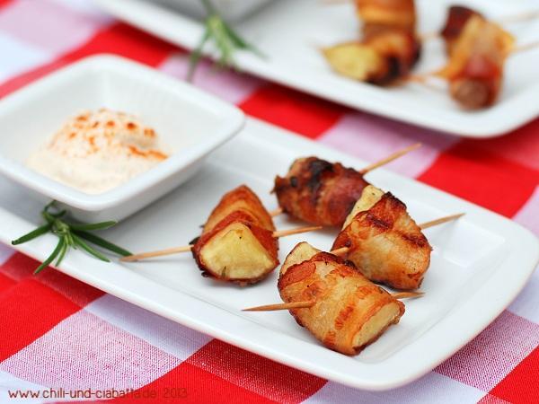 Kleine Bacon-Kartoffelhappen