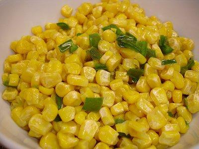 Mais mit grünen Paprika