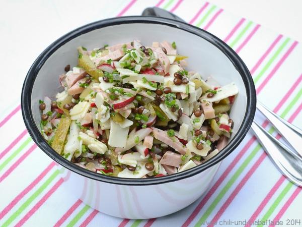 Salat mit Belugalinsen