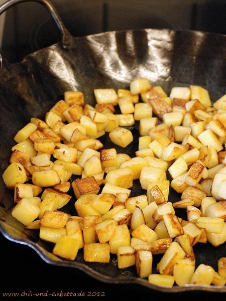braune Kartoffelwürfelchen