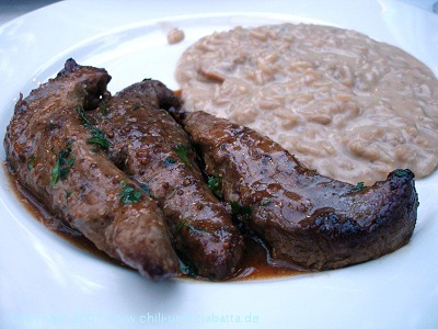Lammfilets mit Risotto