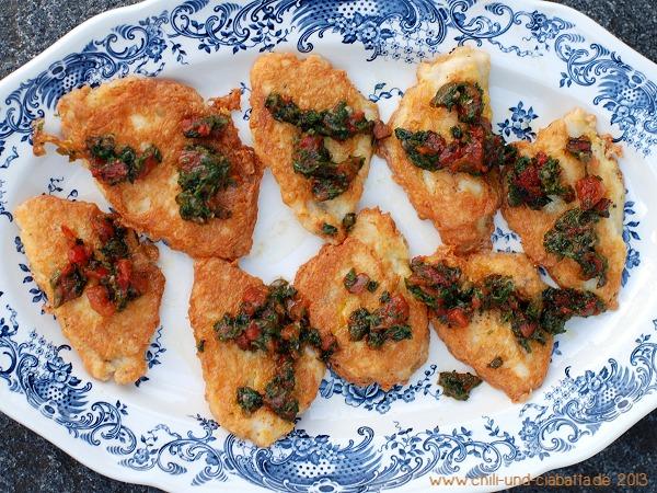 Egli-Piccata mit Tomaten-Kapern-Salsa