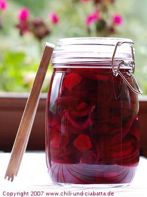pickled beets - eingelegte Rote Bete