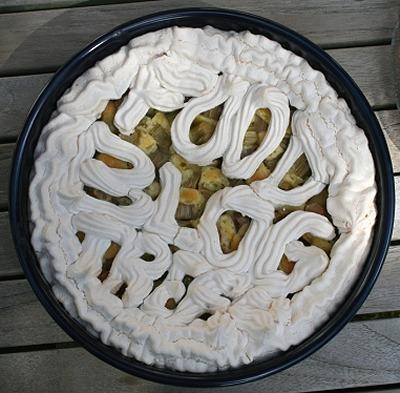 Rhabarberkuchen mit Logo