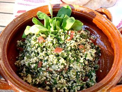 Taboule mit Feldsalat