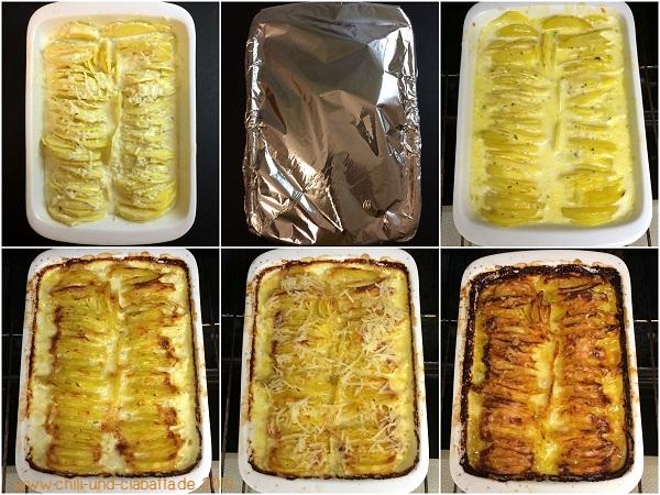 Collage Hasselback Kartoffelgratin